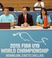 المراقب الدولي السيد وفيق سلوم - بطولة العالم تحت 19 - اليونان 2015